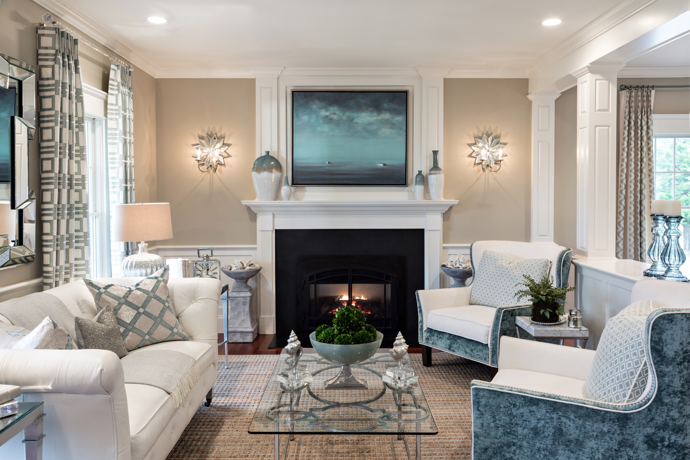 Casabella interiors for Blue beige living room ideas