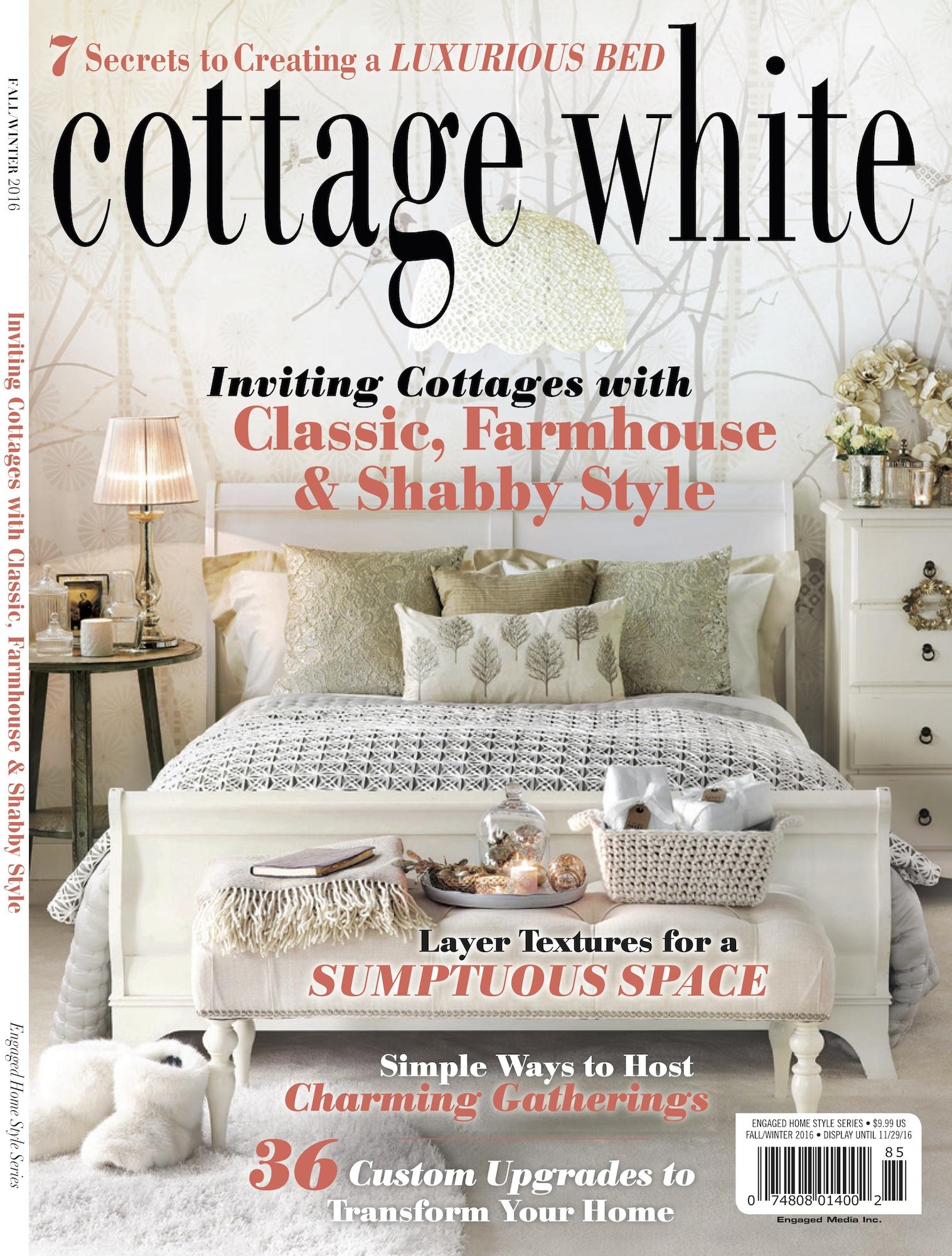 "Casabella Interiors in Cottage White Magazine"" width="